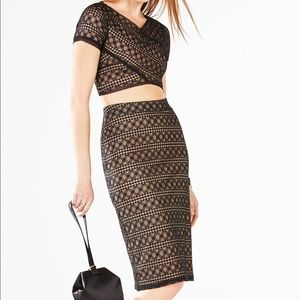 BCBG Vicky 2 piece lace dress